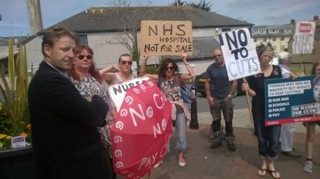 dt at west cornwall protest