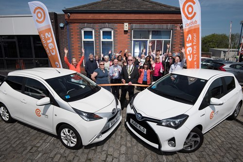 Photograph by Emily Whitfield-WicksCo Cars launch Truro and Falmouth. Truro.