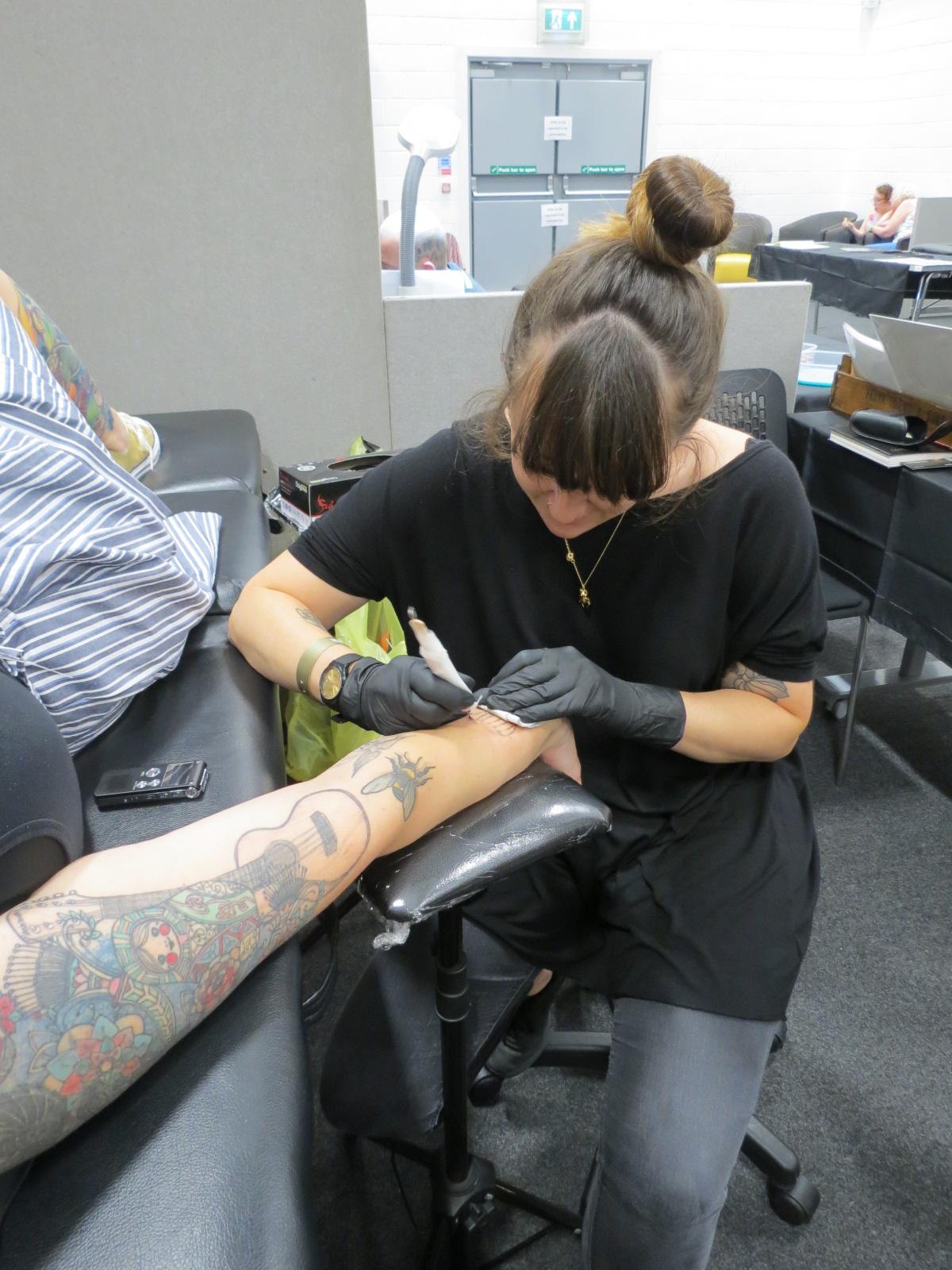 Sarah at work