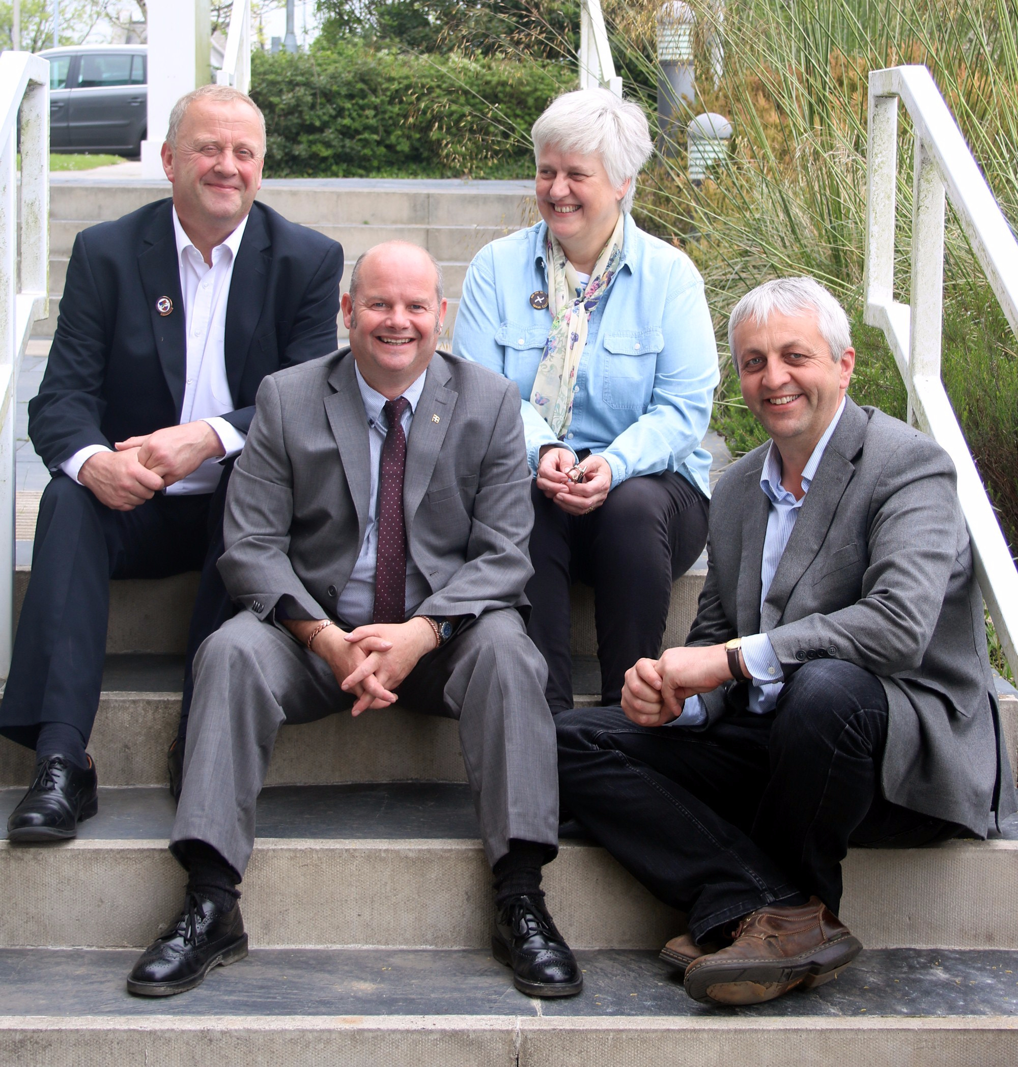 Cllr Dick Cole and his MK Cornwall Council colleagues in 2017