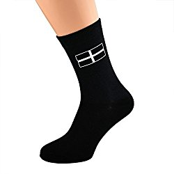 Cornish Flag Cross of St Piran Cornwall Flag Socks